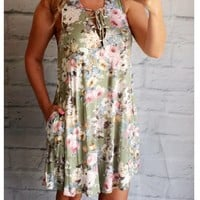 Floral Garden Tie Up Dress