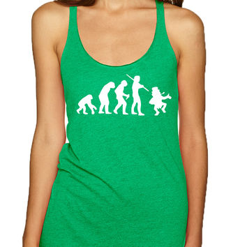 Women's Tank Top Irish Evolution Leprechaun St Patrick's