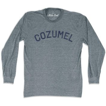 Cozumel City Vintage Long-Sleeve T-shirt
