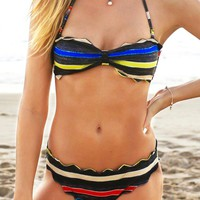 Cupshe Coloured Crayon Halter Bikini Set