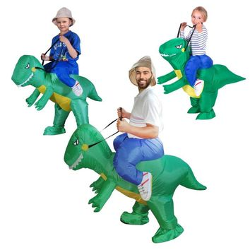 Halloween carnaval kigurumi parents and children inflated garment dinosaur role playing cosplay costume for child adult