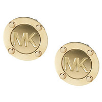 Michael Kors Earrings, Gold Tone Logo Stud Earrings - Fashion Jewelry - Jewelry & Watches - Macy's