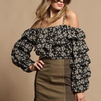 Lucca Joanna Tiered Ruffle Top