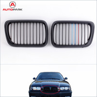 Automobiles Front Grills 2Pcs Matte Black M-color Front Kidney Grille for BMW E36 3 Series 1997-1999 Car Replacement for BMW