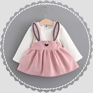 Baby Dress Girls 0-3 Years Old 2017 New Autumn Fashion Style Children Clothing Cotton A041 Infant Girls Dresses