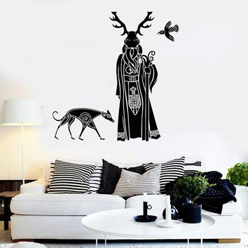 Vinyl Wall Decal Druid Celts Ireland Irishman Celtic Irish Art Stickers Unique Gift (474ig)