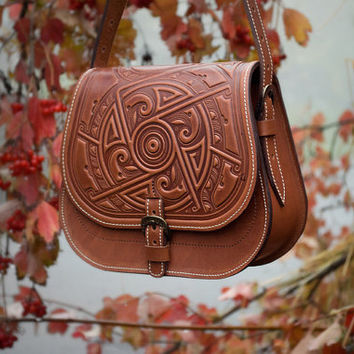 Leather Handbag March Of Time Purse Should