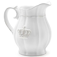 Epic Products Crown Ceramic Serving Pitcher, Multicolor