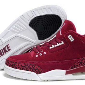 Hot Air Jordan 3 Retro Women Shoes Pink White