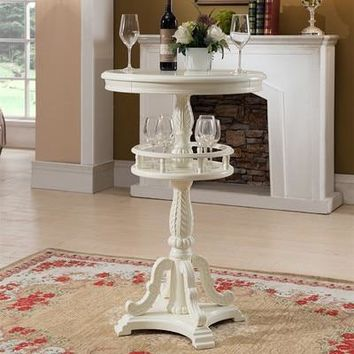 European style solid wood bar table  American style carved bar table home round bar counter