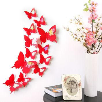 Apr 29   Wall Stickers Decal Butterflies 3D Wall Art Home Decors 421
