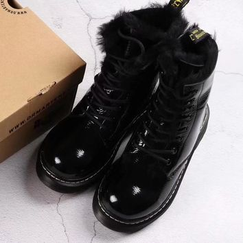 Vetements Women Fashion Wool Dr Martens Boots Shoes