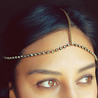 Rhinestone Chain Head piece by theblackfeather on Etsy