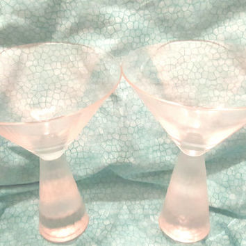 Heavy Bottom Stem Martini Cocktail Glasses
