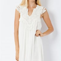 Crochet Lace Gathering Dress - Pre Order