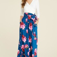 Bed of Roses Wrap Maxi