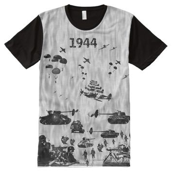 1944 WW2 IN ACTION All-Over-Print SHIRT