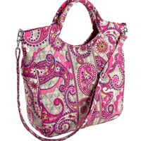 Vera Bradley Two Way Tote in Paisley Meets Plaid