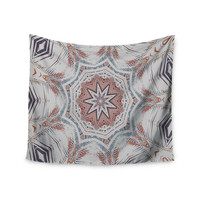 "Alison Coxon ""Boho Dream Tan"" Pink Blue Wall Tapestry"
