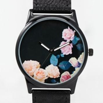 ASOS Watch with Floral Detail Strap