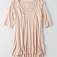 AEO Soft & Sexy Slub Jegging T-Shirt, Light Pink