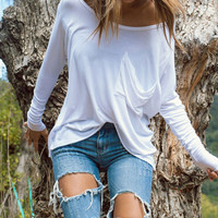 After Party Pocket Tee - White – Joah Brown