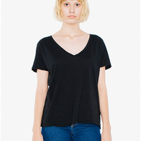 50/1 Cotton V-Neck T-Shirt | American Apparel