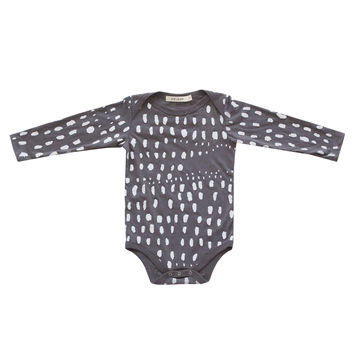 Dots in a Row Bodysuit in Charcoal