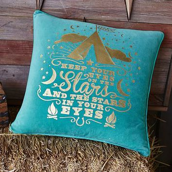 Junk Gypsy Keep Your Eyes On The Stars Pillow Cover