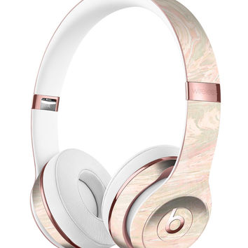 Pink Slate Marble Surface V47 Full-Body Skin Kit for the Beats by Dre Solo 3 Wireless Headphones