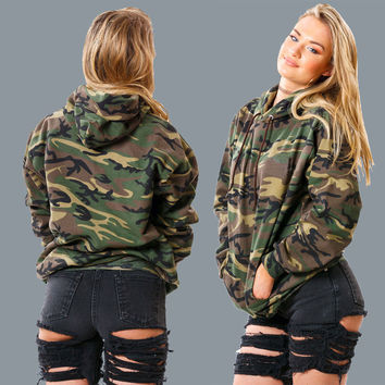 Army Camouflage  Pullover Hoodie