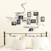 Word Art Frame Wall Decal - XL