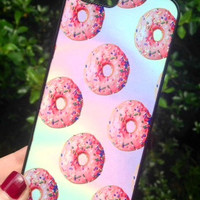 Iphone 6 Phone Case Donuts Cake Pink Print Hipster Phone Cover