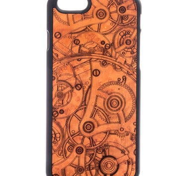 Mechanism from Madrona Burl - iPhone 6/6S Wood Cover - Unique iPhone wood case -FREE WORLDWIDE SHIPPING!Handmade in Europe!