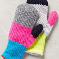 Eribe Colorblock Mittens in Pink Size: One Size Accessories