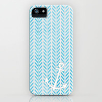 Anchor in Blue iPhone & iPod Case by Brandy Coleman Ford