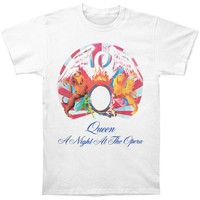 Queen Men's  Night At The Opera T-shirt White