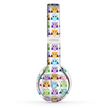 The Emotional Cartoon Owls copy 4 Skin Set for the Beats by Dre Solo 2 Wireless Headphones