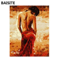 BAISITE Frameless DIY Oil Painting Pictures By Numbers On Canvas Wall Pictures Wall Art For Living Room Home Decoration 1006