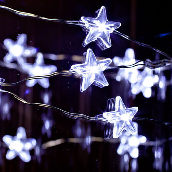 Twinkle Twinkle Little Star Cool White LED Battery operated string lights/ Perfect for Weddings