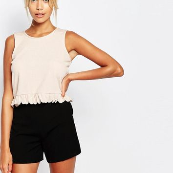 Fashion Union | Fashion Union Tank Top With Frill Hem at ASOS