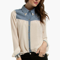 Western Dame Button Up Blouse $33
