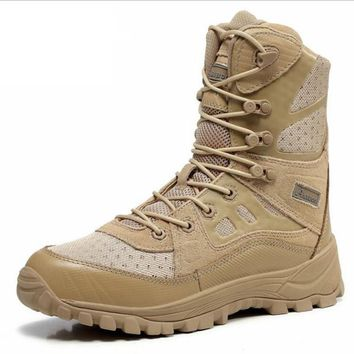 Desert Tactical Military Boots Combat Boots Men Shoes Work Outdoor Climbing Men Army B