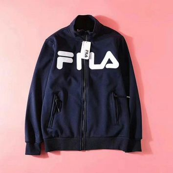 FILA Woman Men Fashion Cashmere Cardigan Jacket Coat
