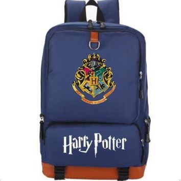 Student Backpack Children 2018 Fashion Harry Potter Hogwarts Backpack Students School Bags Travel Shoulder Bag for teenagers men women Children book Bag AT_49_3