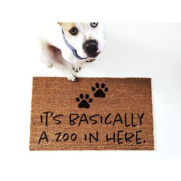 It's Basically a Zoo in Here Doormat