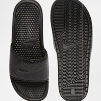Nike Benassi Sliders 343880-001 at asos.com