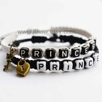 Couples bracelet Princess Prince key lock Personalized bracelet = 1930369092