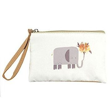 POPUCT Womens Cute Canvas Coin PurseZippered Hand Bag