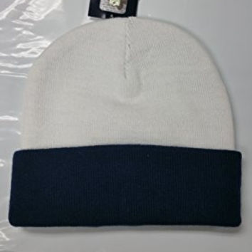 NFL Dallas Cowboys 2 Tone Gray Navy Team Cuffed Knit Beanie Cap